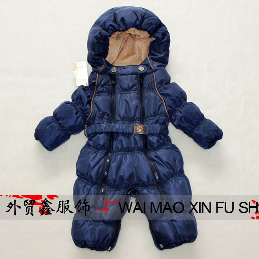 Baby Winter Jumpsuit Infant Boy Coats Outerwear Down Blue Red Fashion Ski Suit Baby Snowsuit Coveralls Baby Girl Winter Clothes(China (Mainland))