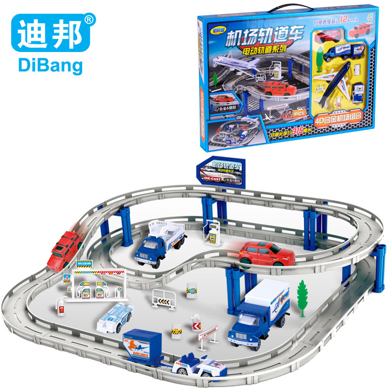 Kids Toys For Children Airport vehicle suit 1:64 electric rail car model alloy toys Rail Tracking Juguetes Hot Wheels DB2273(China (Mainland))