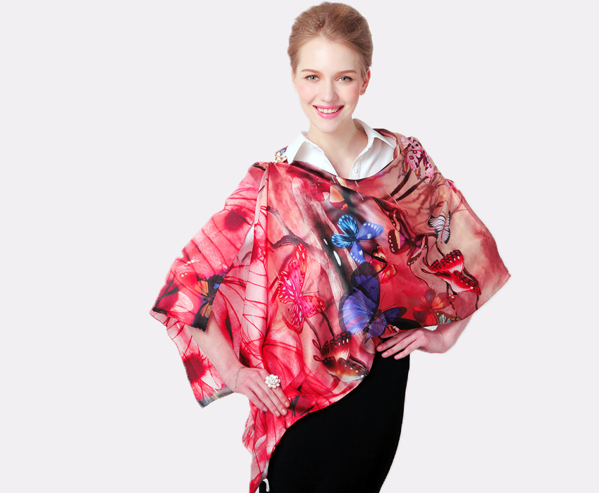100% long silk scarf women scarf shawl high-grade brand designer scarf chinese style oil painting ink and wash painting-b157(China (Mainland))