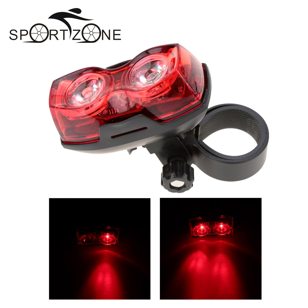 2 LED Bright Bicycle Tail Lights 3 Mode Cycling Back Tail Light Water-resistant Bike Safety Flashing Rear Lights lamp Bicicleta(China (Mainland))
