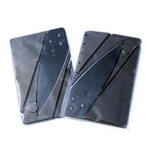 100 unids/lote carpeta caliente cuchillo de bolsillo herramienta de tarjeta de crédito cuchillo de hoja plegable de múltiples funciones al aire cuchillo con bolso de Opp