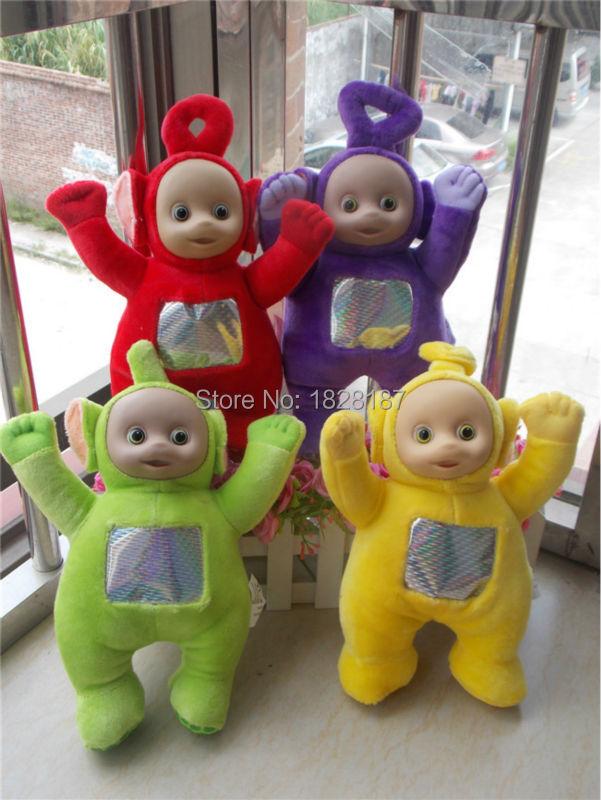"""Retail one set(1set=4pcs)Teletubby Plush Toy Doll Teletubbies 10"""" Po Dipsy Laa Tinky Winky Plush toy(China (Mainland))"""