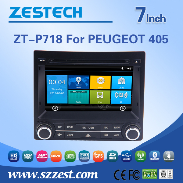 7 Inch Dual core Car Radio for PEUGEOT 405 Support GPS Navigation Radio RDS +3G BT(China (Mainland))