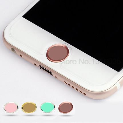 Touch ID Metal Aluminum Home Button Sticker For iPhone 5 5S 6 6 plus 6s 6s plus Boto para pegatina Fingerprint Identification(China (Mainland))