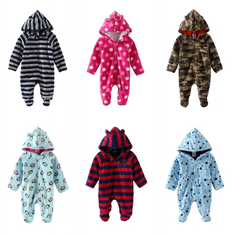 Faux Fur Lining Excellent Soft Warm Winter Baby Rompers Clothes Newborn Boy Girl Fleece Baby romper Jumpsuit Clothing