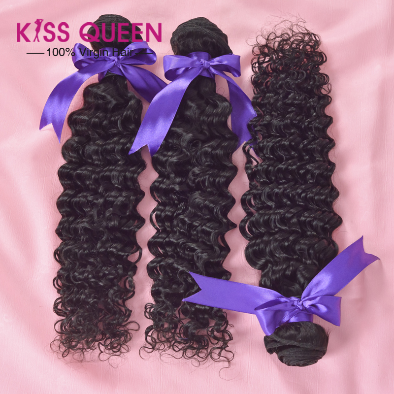 Queen hair products 3 pcs mixed brazilian deep wave hair extension human cheap brazilian hair free shipping curly hair no tangle<br><br>Aliexpress