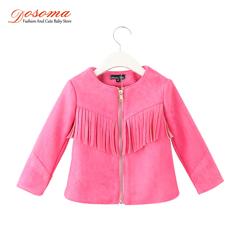 2015 new brand tassel fall winter faux fur girls deerskin warm cardigan zipper baby jacket fringed coats jackets kids - Fashion and Cute Baby Store store