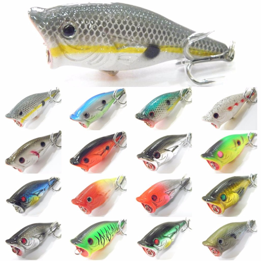 Wlure fishing lure topwater popper crankbait hard bait for Topwater fishing lure