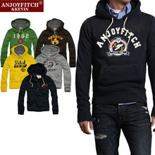 5 Color New AF Anjoy Fitch Men Sweatshirts Long Sleeve 100% Cotton Sport Hoodies Plus Size Clothing High Quality Street Clothes(China (Mainland))