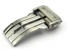 24 mm correa de reloj hebilla de implementación de cierre plata acero inoxidable alta calidad para HUB ~