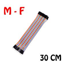 (30cm)40pcs in Row Dupont Cable 30cm 2.54mm 1pin 1p-1p Female to Male jumper wire for Arduino