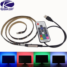 Buy 5V 50CM 1M 2M USB Cable Power LED strip light lamp SMD 5050 Waterproof 17key control Decor lamp tape TV Background Lighting for $4.89 in AliExpress store
