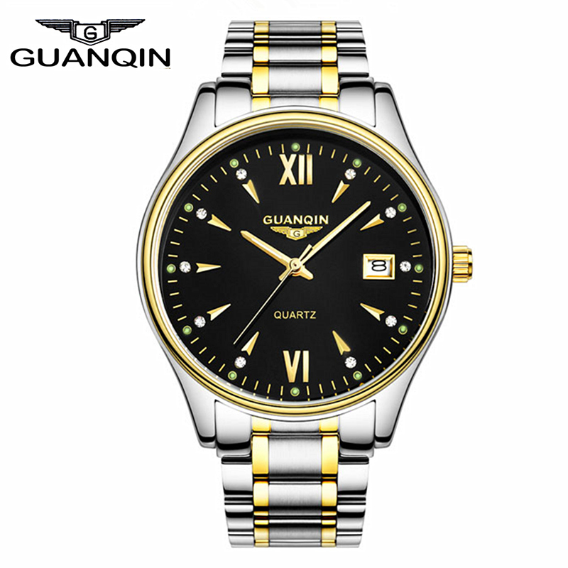 Watches Men Brand GUANQIN Full Steel Watches Men Quartz Waterproof Luxury Brand Ultrathin Business Reloj Relogio Masculino<br><br>Aliexpress