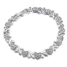Heart Bracelet Bangles Cubic Zirconia Tennis Bracelet For Bridal/Bridesmaid Women Wedding Bracelet Zircon Jewelry High Quality (China (Mainland))