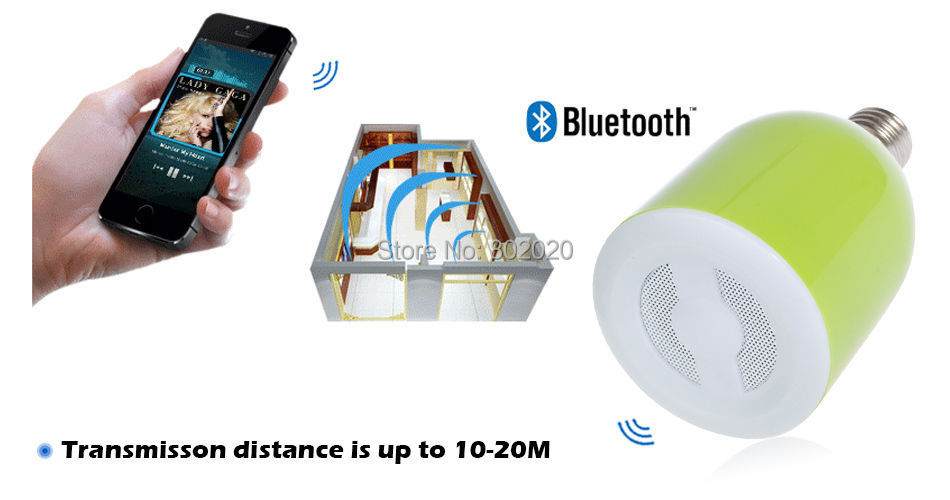 Bluetooth 3.0 Music E27 LED Lamp Audio Speaker Bulb Controller iOS Android Light - Digitalsources Technology Ltd store