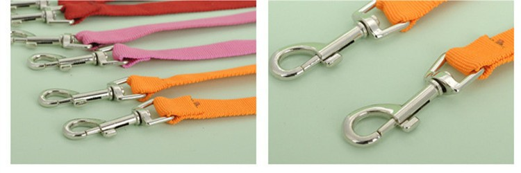 5 color New Double Multiple Dual Coupler 2 Way Two Pet Dogs Nylon Dog Pet Walking Leash Puppy Leads PG24 (6)