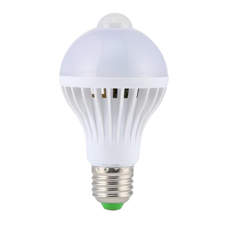2016 New Pir Motion Sensor Lamp E27 Bulb 7w Auto Smart Led Pir Infrared Body Lamp Special For