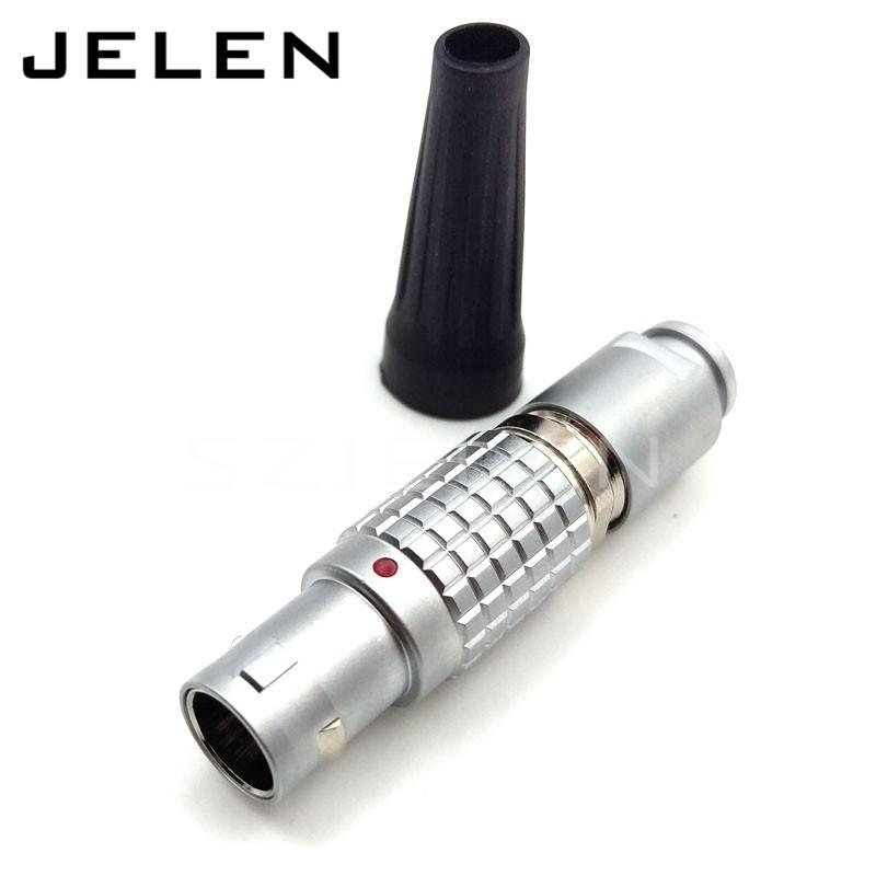 LEMO connector 10pin plug, FGG.1B.310.CLAD62Z, metal plug self-locking connector 10pin plug, LEMO 1B FGG10 pin male
