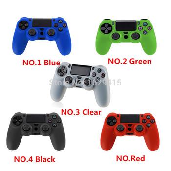 2 в 1 Мягкая Силиконовая Резина Чехол Для Sony Play Station DS4 Pro Slim Беспроводной Контроллер Dualshock 4 для PS4 Кожи + 2 ручки