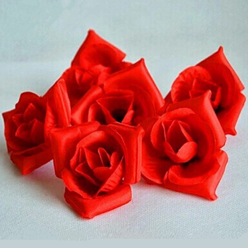 50pcs Romance cloth artificial flowers rose head for birthday wedding candle placed figure package roses party supplies(China (Mainland))