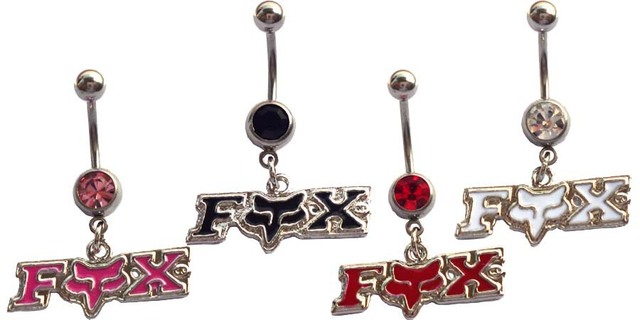 Fox body  jewelry  piercing wholesale stainless steel  4pcs Dangle Button belly  navel jewelry