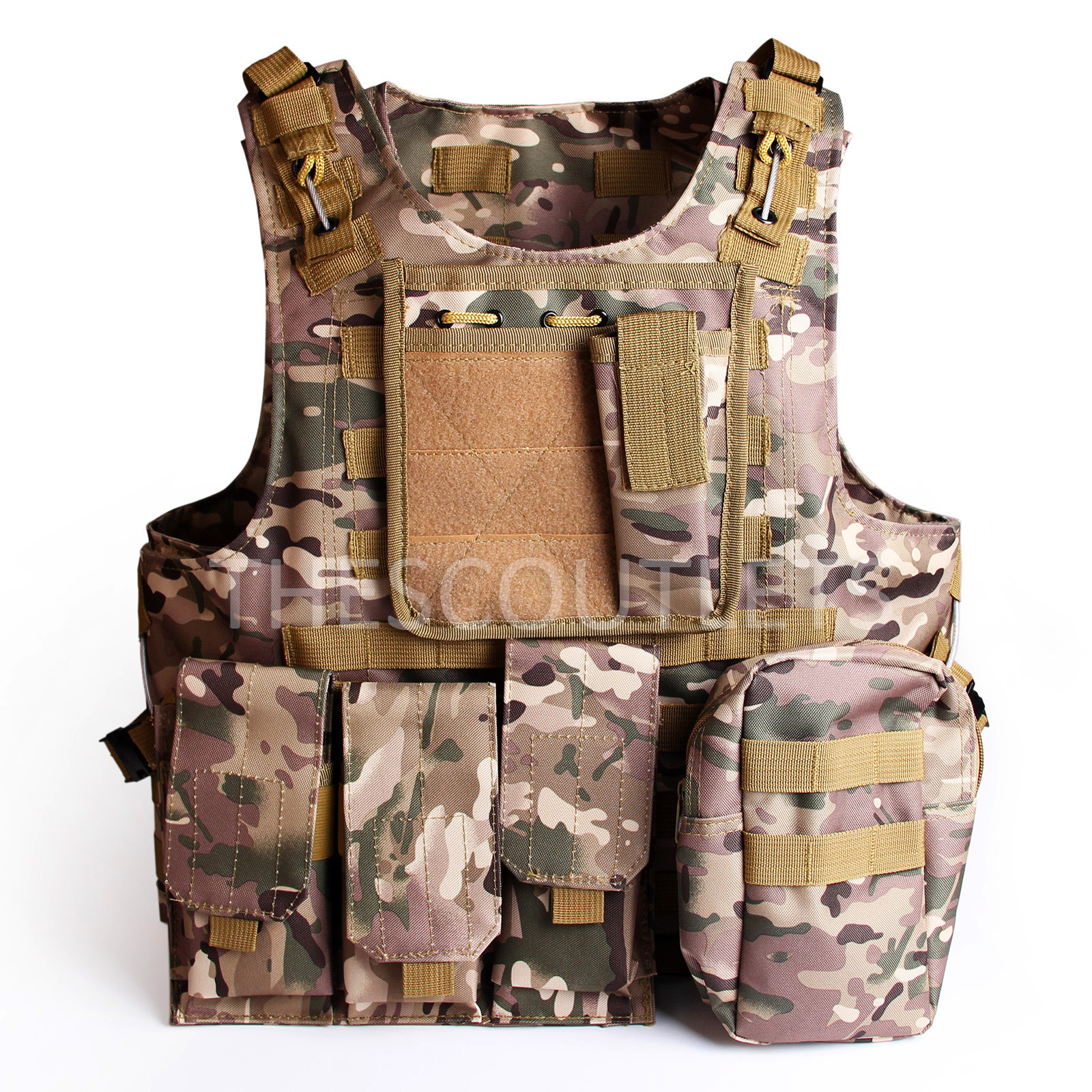 Tactical Molle Combat Vest Airsoft camouflage Police Fully adjustable CU(China (Mainland))