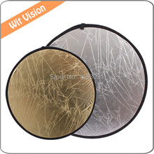 24inch 60cm 2 in 1 Collapsible Light Round Photography Reflector Light Diffuser for DSLR Photo and Studio