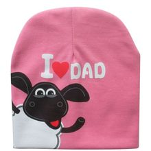 New Baby Hat Knitted Warm Cotton Toddler Beanie Baby Cap Kids Girl Boy I LOVE PAPA MAMA Print Kid Hats