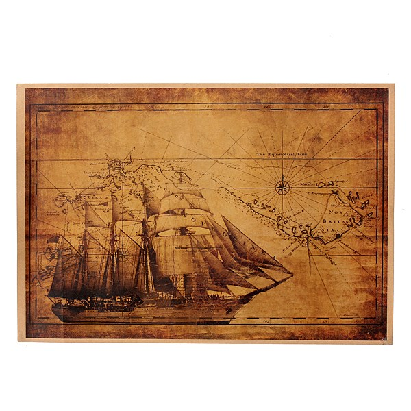 46x32cm Vintage Style Middle Ages Ship Poster for wall Living Room Decoration Vintage Wall Retro for Voyage Paper Poster(China (Mainland))