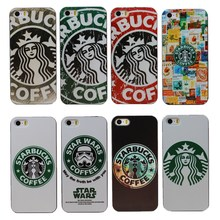 2015 New Arrival Starbucks Star Wars Coffee Design Phone Case Cover for Apple i Phone iPhone 5 5G 5S 1 Piece Free Shipping