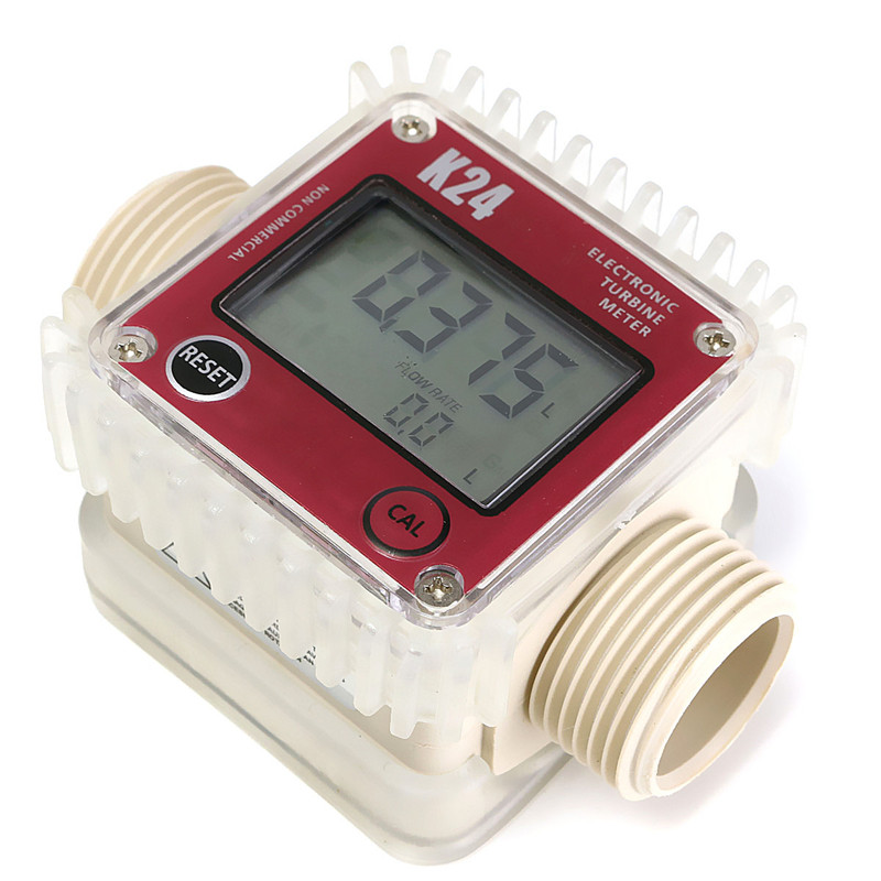 High Quality Pro K24 Digital Fuel Flow Meter for Chemicals water random color New Arrival(China (Mainland))