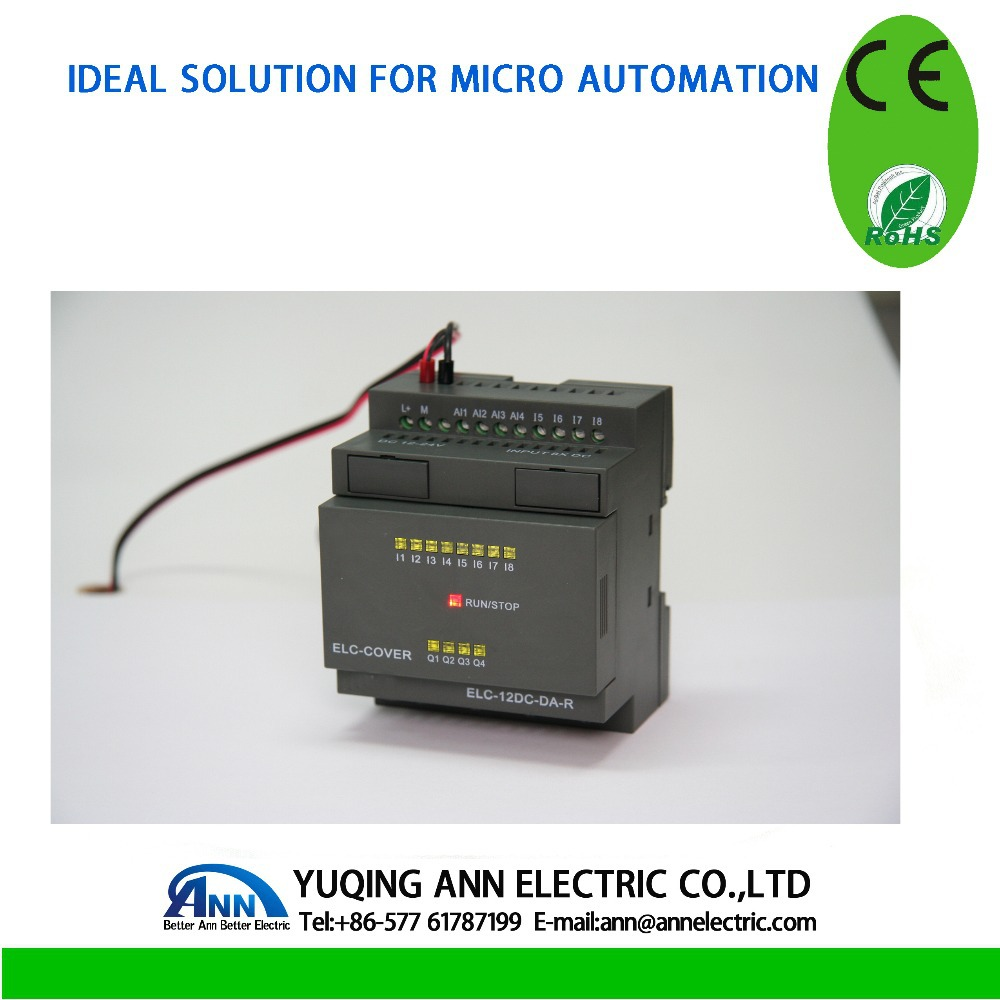 ELC-12AC-R-CAP,wholesales 8 points input 4 points relay output with cable High quality unitronics PLC(China (Mainland))