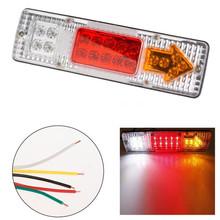 Car Van Truck   Lorry Trailer  Led Tail Lights LED Rear Turn Signal Stop Rear Tail Indicator Light Lamp 1 pcs Car Styling(China (Mainland))