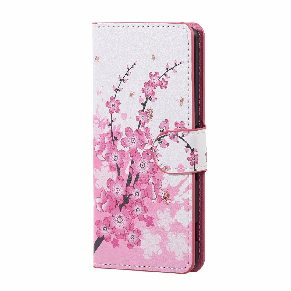 Flower Butterfly PU Leather Stand Holder Wallet With Card Slots Flip Cover Case For HUAWEI Ascend P9 Plus P8 9 Lite15 Colors(China (Mainland))