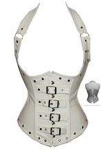 Faux Leather Corset With