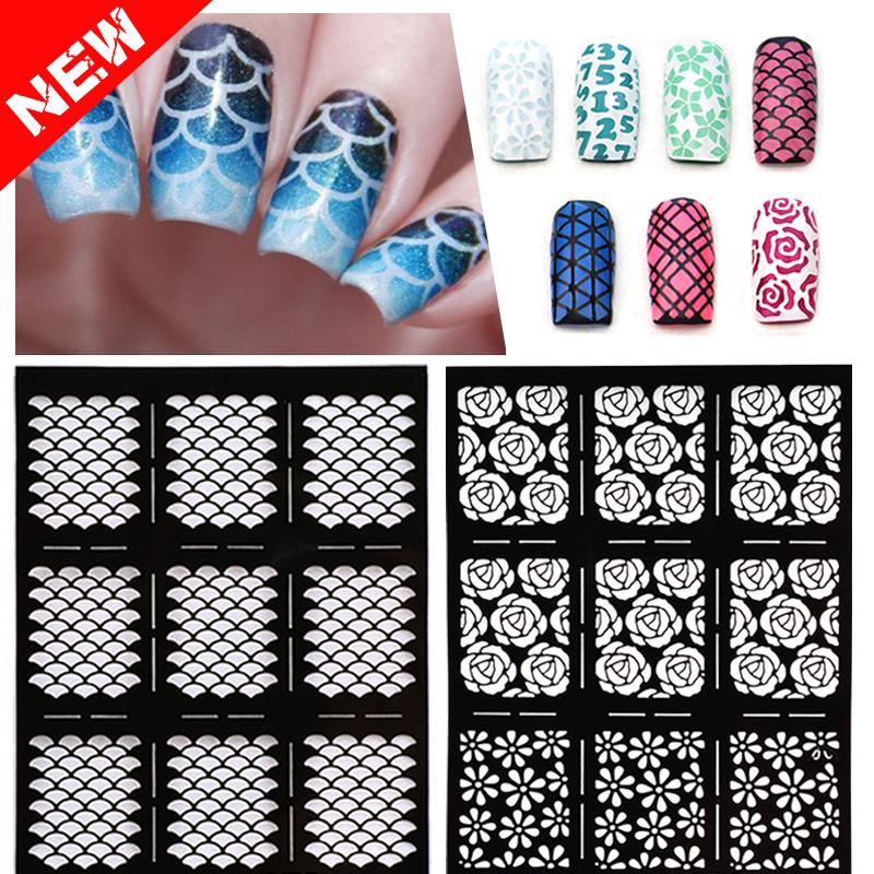 Nail Art Stencil Templates