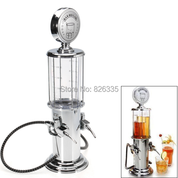 Vintage Gas Station Cocktail Shakers Drinks Dispenser Bartending Beer Machine with Double Pumps(China (Mainland))