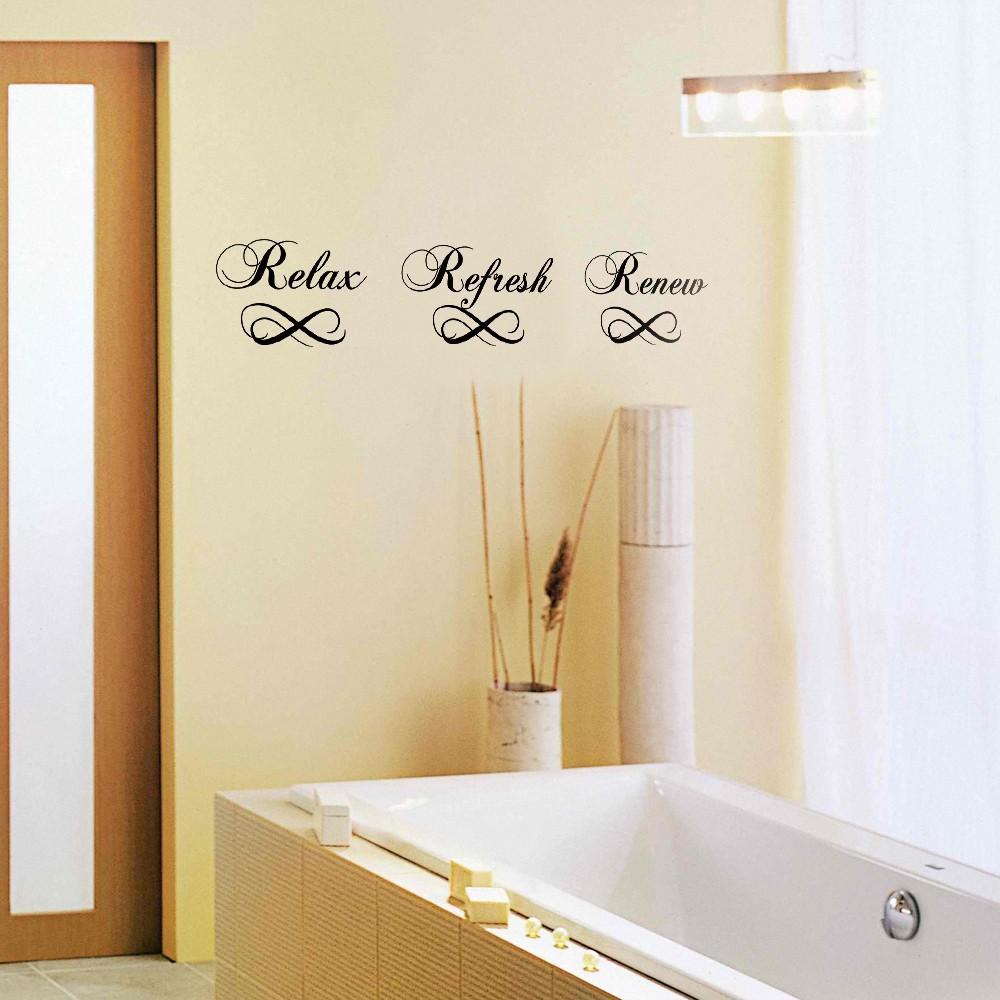 Badezimmer wandtattoo relax aktualisieren erneuern vinyl - Badezimmer erneuern ...