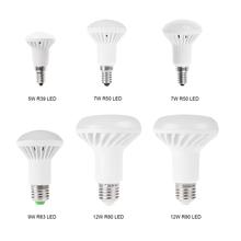LED Lamp 5730 E14 E27 LED Light Bulbs 5W 7W 9W 12W LED Light  R39 R50 R63 R80 AC85-265V Warm /Cool lights Free Shipping