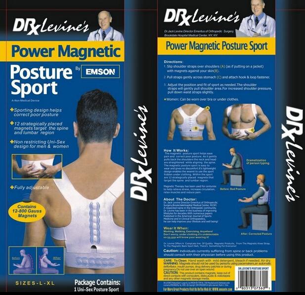 Magnet Posture Back Shoulder Corrector Posture Brace Belt Therapy Adjustable Kyphosis correction(China (Mainland))