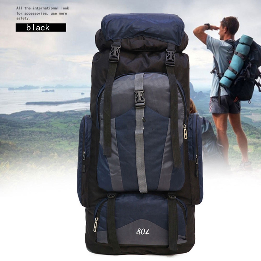 Large capacity 80L Backpack Waterproof Military Tactical Sport Travel Back Pack Bag Mountaineering Hike Camping Travel Backpack<br>