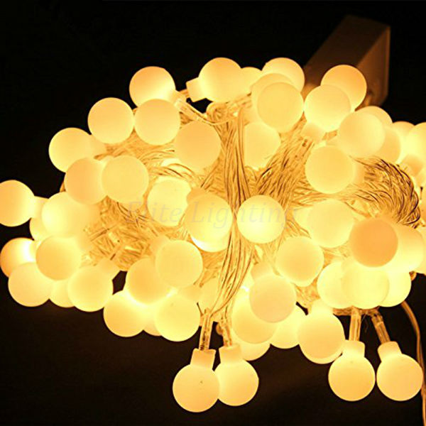 10M Fairy Lights Ball String Lights For Wedding Party Christmas Tree Xmas Decor