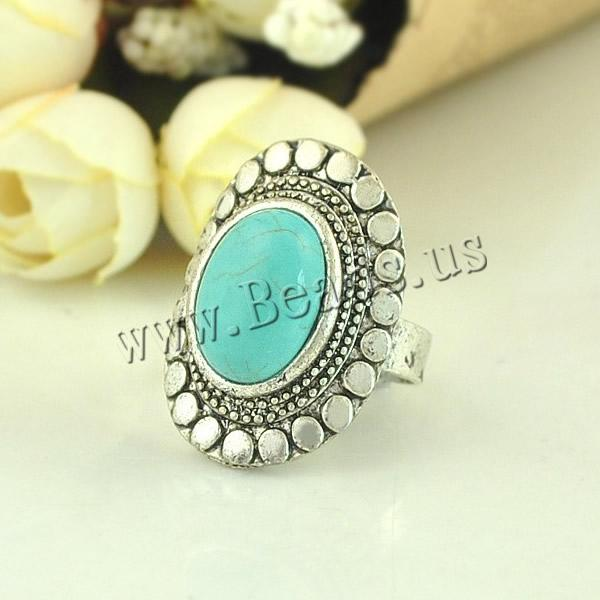 Free shipping!!!Zinc Alloy Open Finger Ring,Lucky Jewelry, with turquoise, Flat Oval, silver color plated, adjustable &amp; blacken<br><br>Aliexpress