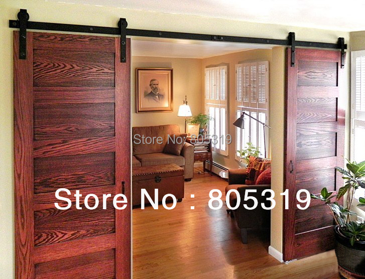 Double Sliding Barn Door Heavy Duty Modern Wooden Sliding Barn Door Mainland
