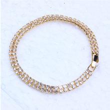 Liuyuwei אופנה מעוקב Zirconia טניס צמיד & צמיד זהב כסף צבע צמיד נשים תכשיטי מסיבת חתונה כלה(China)