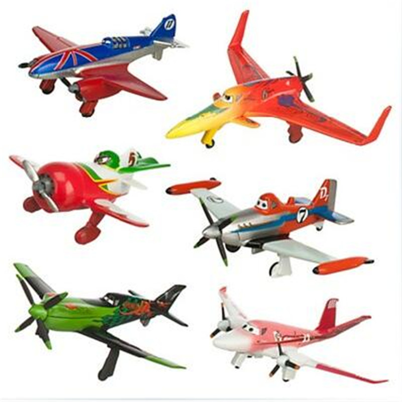 6pcs/set pixar planes dusty planes 2 ishani skipper Ripslinger airplane plane model gifts doll classic toys for children W121(China (Mainland))