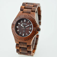 China wholesale women watches red sandal and maple wood mixed bracelet fashion lady watch 2014