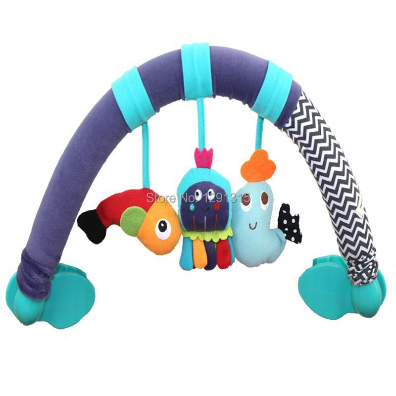 Fish/Octopus/Dolphin Mobile Baby Toys Super Plush Toy Stroller Rattle Crib Mobile Learning & Education Toy Gifts Free Shipping(China (Mainland))