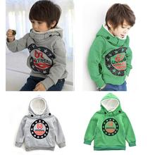 Fall Winter Baby Boys Hoodies Cartoon Star Letter Print Boys Kids Coat Hoodie Jacket Sweater Pullover Outwear(China (Mainland))