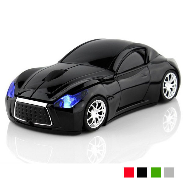New Fashion Sports Car 2.4GHz Wireless Mouse 1600DPI Optical Gaming Mouse Mice for Computer PC free shipping(China (Mainland))